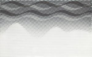 negra white inserto waves 25x40cm
